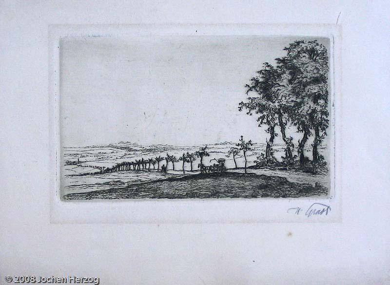 Hermann Gradl - KNV - Kutsche in italienischer Landschaft