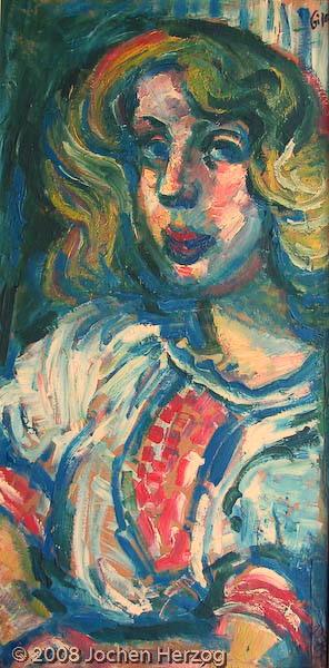 Gisela Habermalz - J589 - Portrait einer jungen Frau