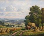 Willy Hanft - J756 - Erntelandschaft aus der Fränkischen Schweiz