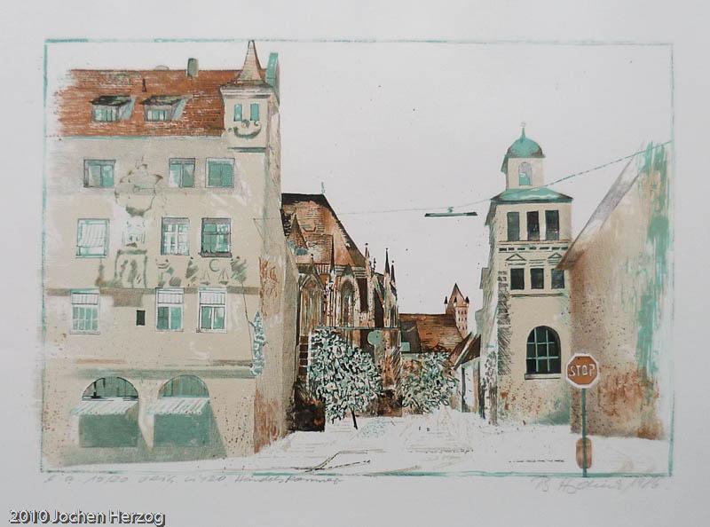 Brigitta Heyduck - J1015 - Handelskammer m. Rathaus