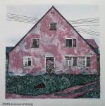 Brigitta Heyduck - J1301 - rosa Bauernhaus in Franken