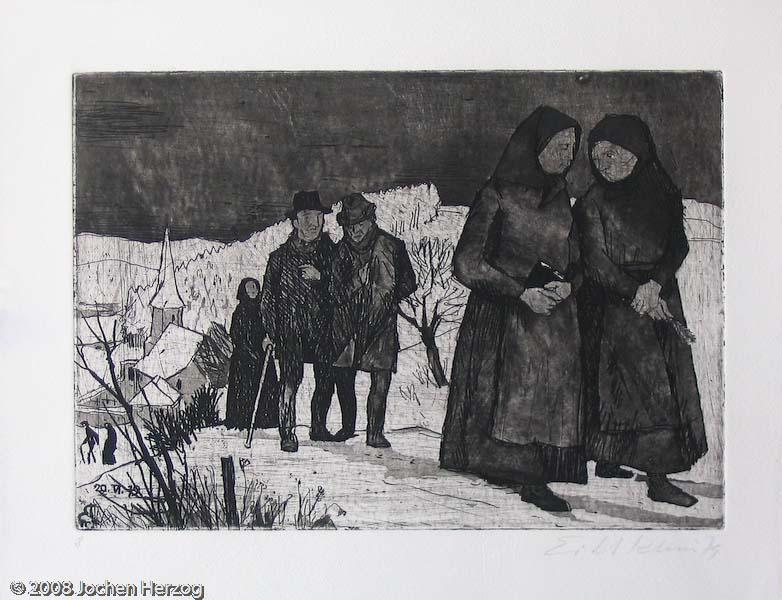 Eitel Klein - J818 - Nach der Kirche aus der Serie: Kindheitserinnerungen