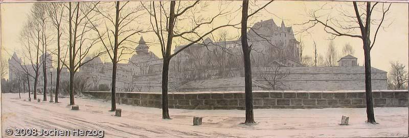 Ludwig Kühn - J652 - Nürnberger Burg im Winter