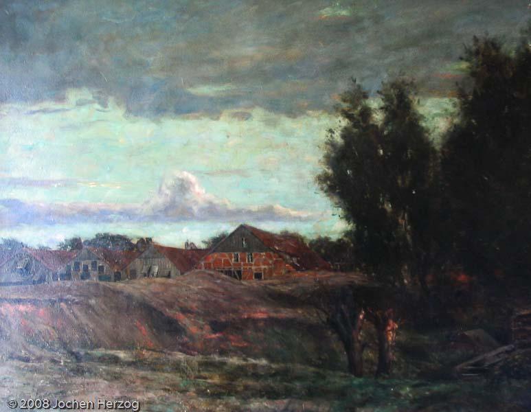 Ludwig Kühn - J677 - Alte Lagerhäuser in Landschaft