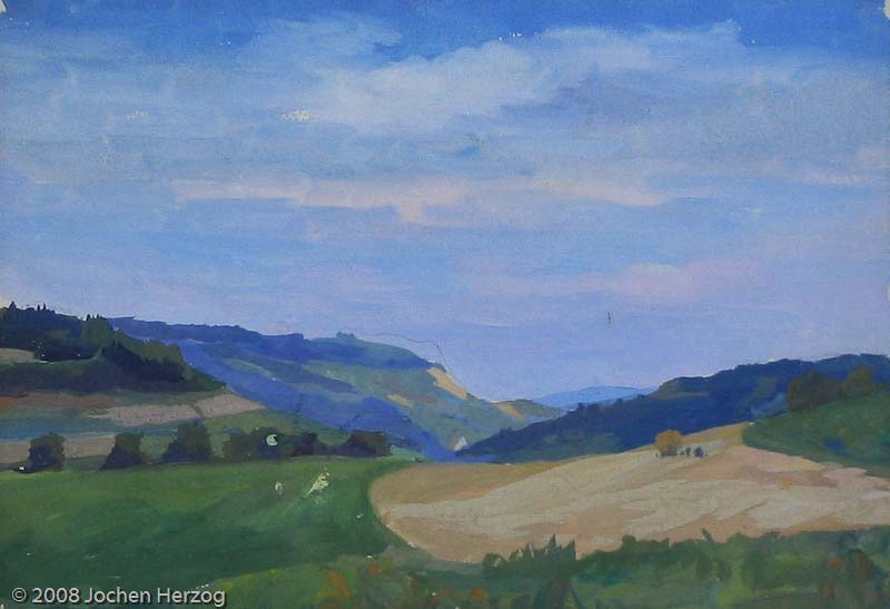 Hans Maulwurf - J765 - Landschaft bei Hohenstadt