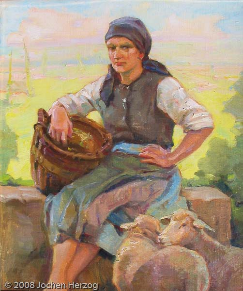 Hans Oertle - J691 - Fränkische Bäuerin aus Großgründlach