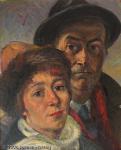 Heinrich Rettner - J431 - Selbstportrait mit Ehefrau Luise