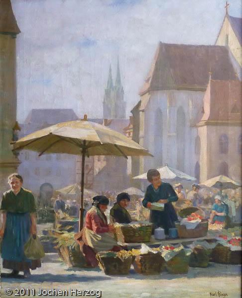 Karl Roeger - J1033 - Obstmarkt in Nürnberg