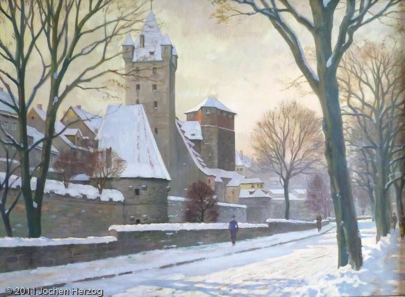 Karl Roeger - J1354 - Wintermorgen am Vestnertorgraben