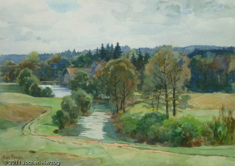 Karl Roeger - J565 - Fluß in Sommerlandschaft