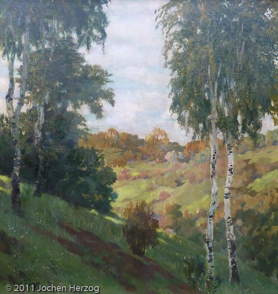 Karl Roeger - J873 - Herbstlandschaft mit Birken