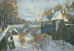Karl Roeger - J1032 - Splittertorgraben mit Nürnberger Burg im Winter