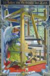 Karl Roeger - J454 - Engel an einem Webstuhl