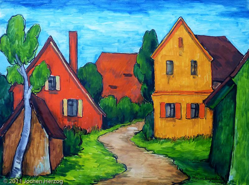 Hans Bayerlein - J860 - Orangenes Dorf