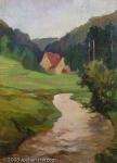 Carl Kellner - J711 - Fränkische Landschaft mit Bach (Fluß)